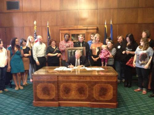 Governor signs the Foster Youth Bill of Rights in a ceremonial signing!