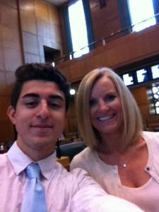 Nathan with Rep Hack on the floor of the House for the final vote on both bills!